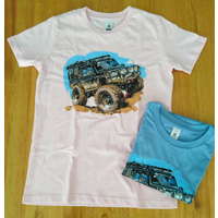 Kids Tee with color print